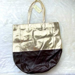 NEW Margot leather snakeskin embossed tote